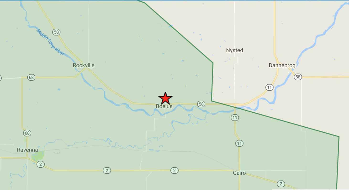 Prairie Hills Wireless Internet Services Coverage Area in Boelus, NE